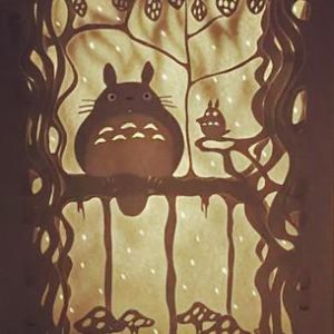 Indoor Craft Activities for Totoro Fans Studio Ghibli My Neighbor Totoro Handmade Lantern Home Decor,Totoro Characters Craft Wall Decoration Idea,Totoro Ornament Digital Pattern Instant Download,Dai Totoro on the Branch in Forest Digital Design Art